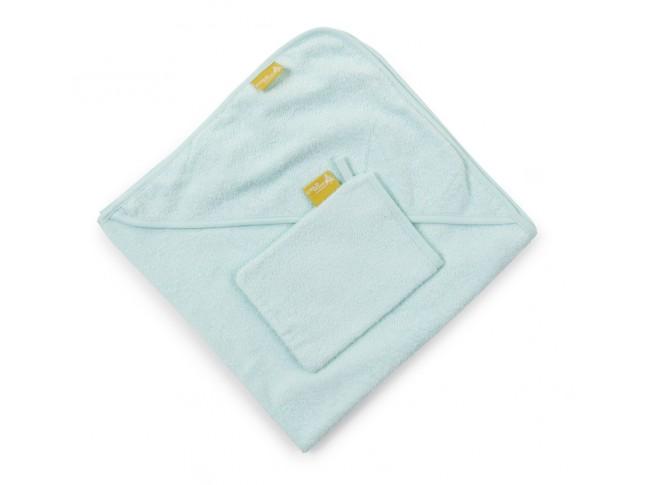 Cape de bain bébé + gant de toilette collection Terry 80x80 Natti & Co - CHILDWOOD