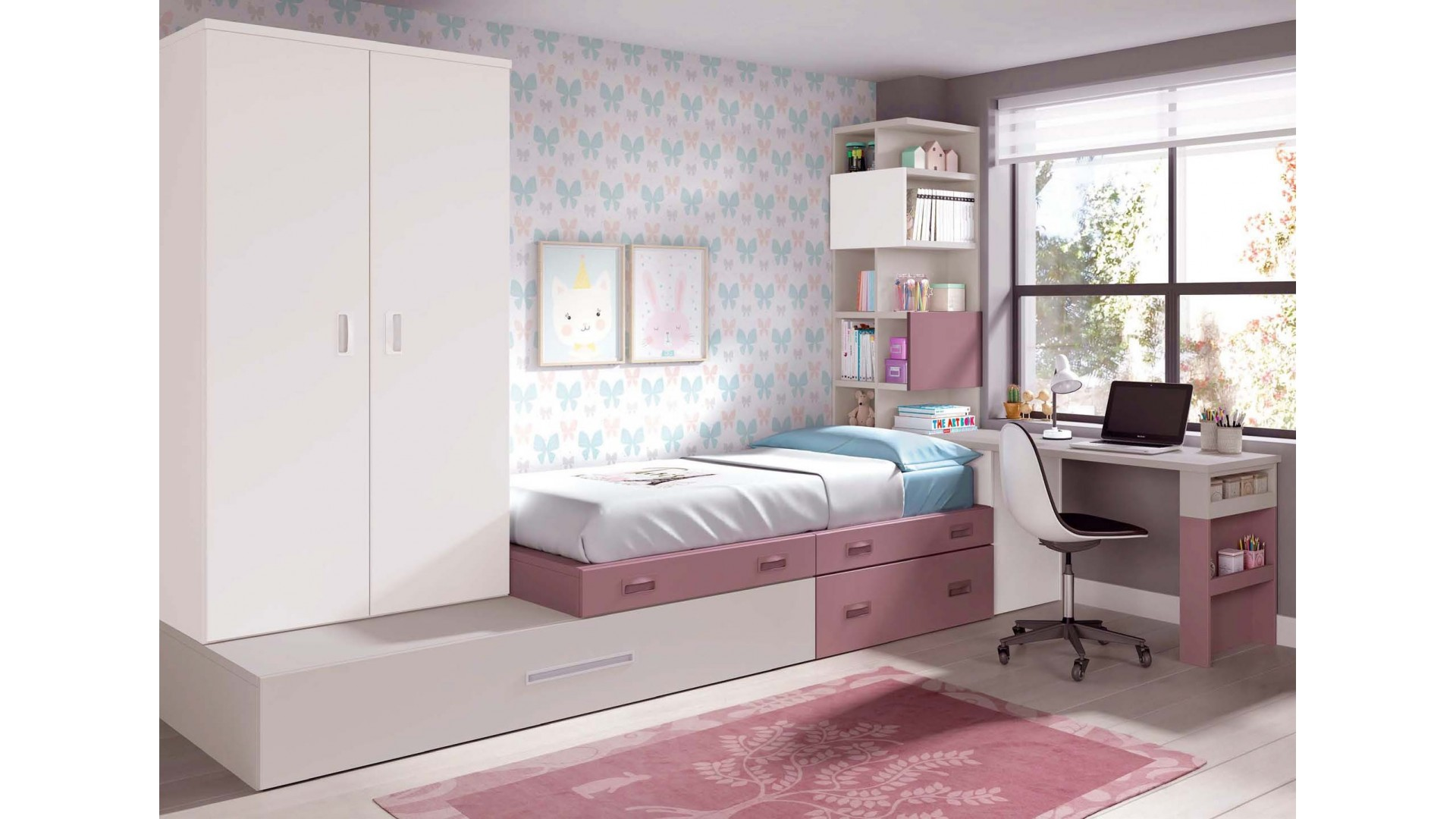 chambre pour enfant et lit estrade glicerio so nuit. Black Bedroom Furniture Sets. Home Design Ideas