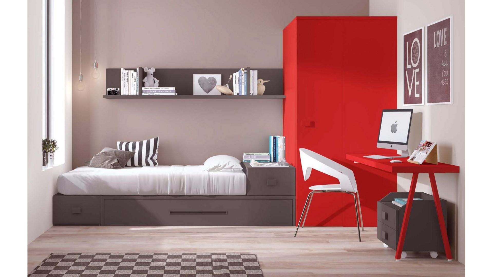 Chambre d enfant PERSONNALISABLE avec lit gigogne F314 - GLICERIO