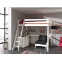 Lit mezzanine 140x200 cm CLARA - SONUIT
