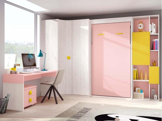 Lit escamotable vertical chambre PERSONNALISABLE F419 - GLICERIO