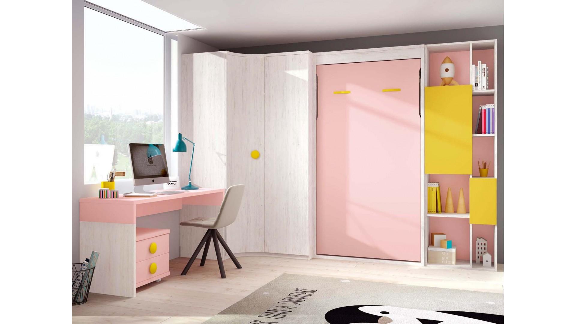 lit escamotable vertical avec chambre glicerio so nuit. Black Bedroom Furniture Sets. Home Design Ideas
