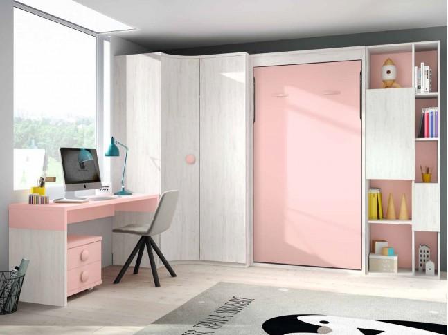 Lit escamotable vertical chambre PERSONNALISABLE F419 - 2 - GLICERIO