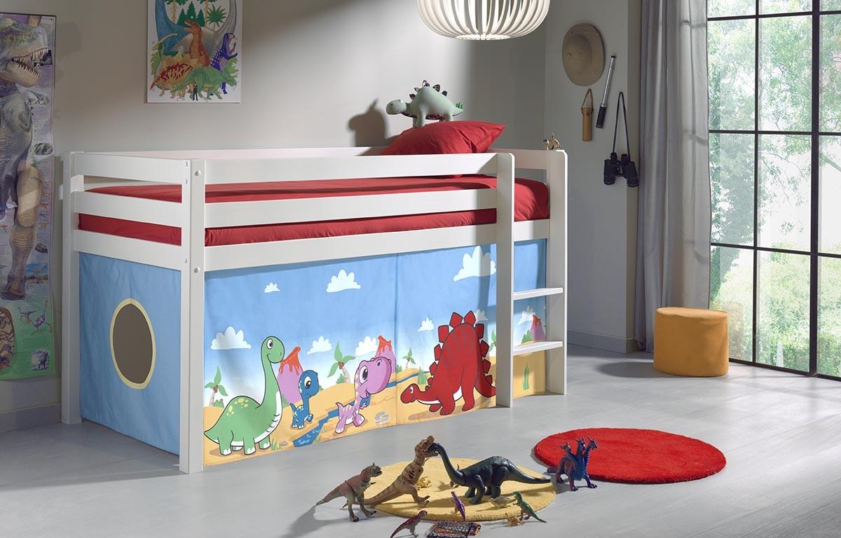 lit enfant cabane alice en pin massif sommier et tissus so nuit. Black Bedroom Furniture Sets. Home Design Ideas