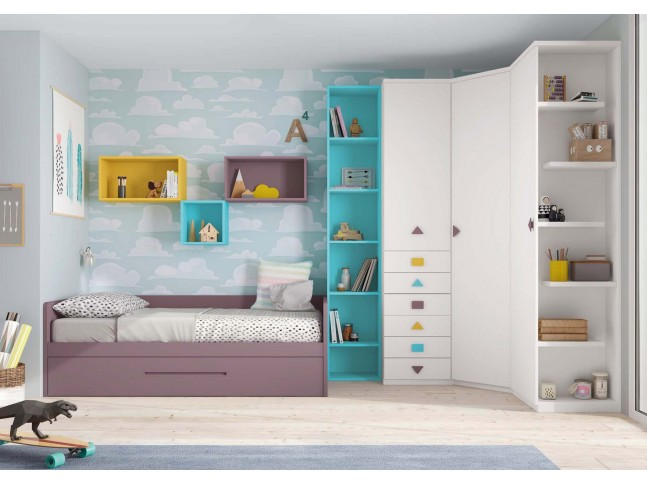 Chambre a coucher enfant PERSONNALISABLE F103 - GLICERIO