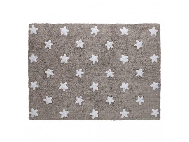 Tapis enfant STARS 120x160cm en coton lavable - LORENA CANALS