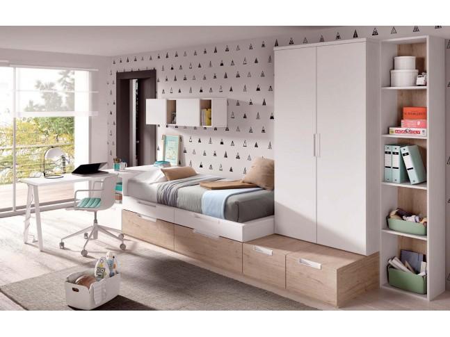 Chambre pour enfant PERSONNALISABLE avec lit gigogne F301 - GLICERIO