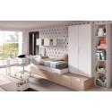 Chambre pour garcon avec bureau style architecte PERSONNALISABLE F306 - GLICERIO