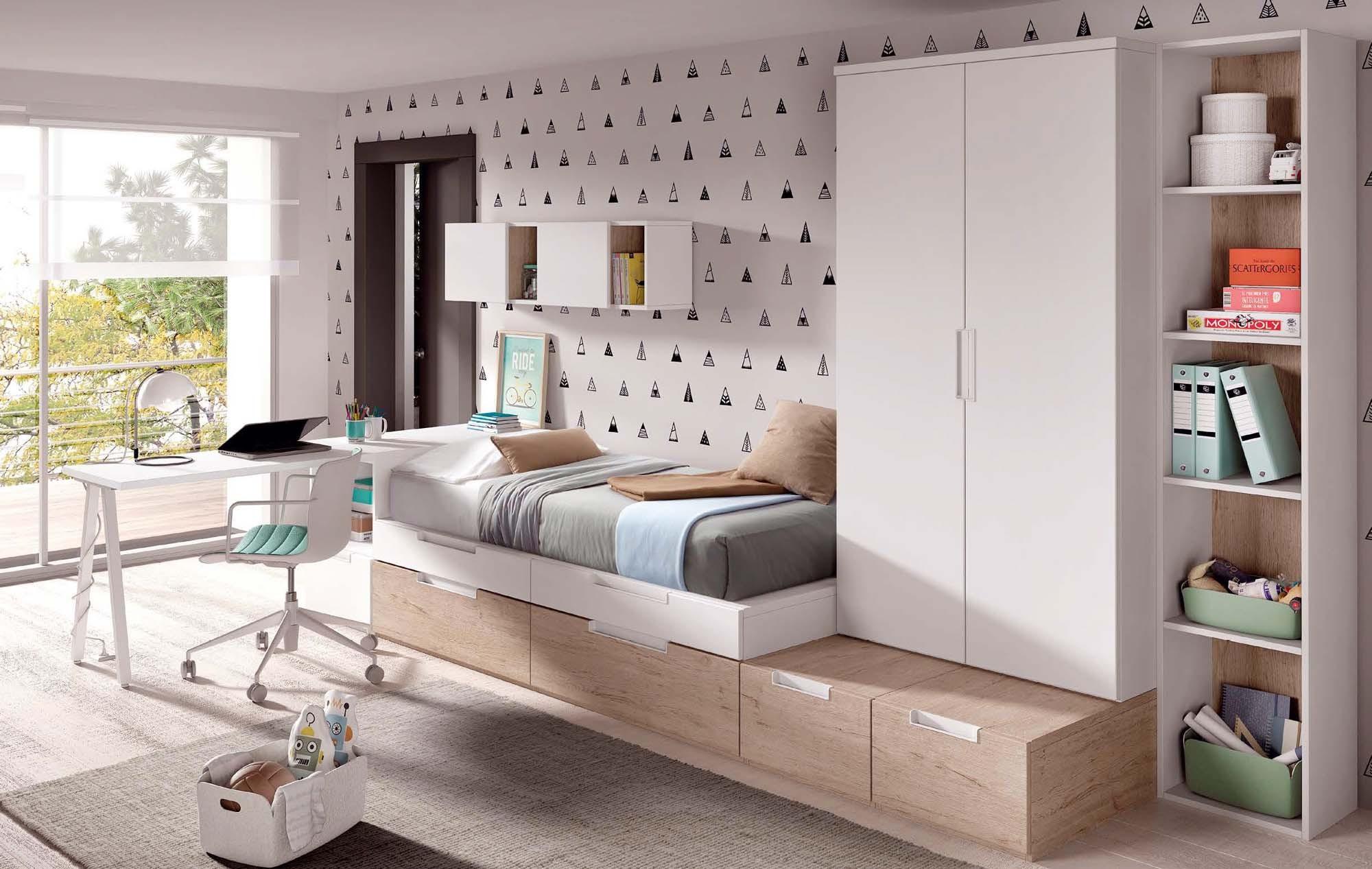 Chambre pour garcon avec bureau style architecte glicerio so nuit