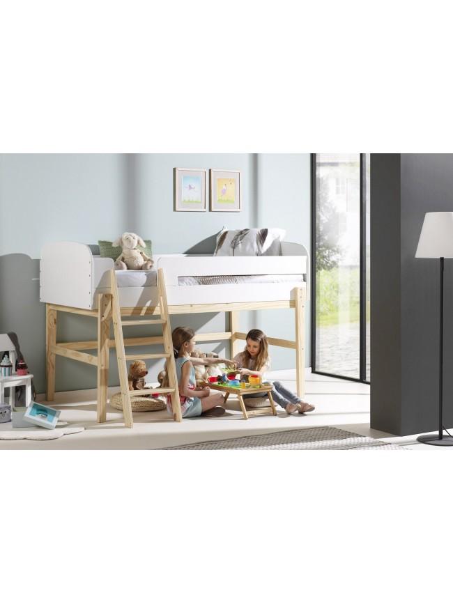 lit mezzanine id al pour chambre enfant prix fun so nuit. Black Bedroom Furniture Sets. Home Design Ideas
