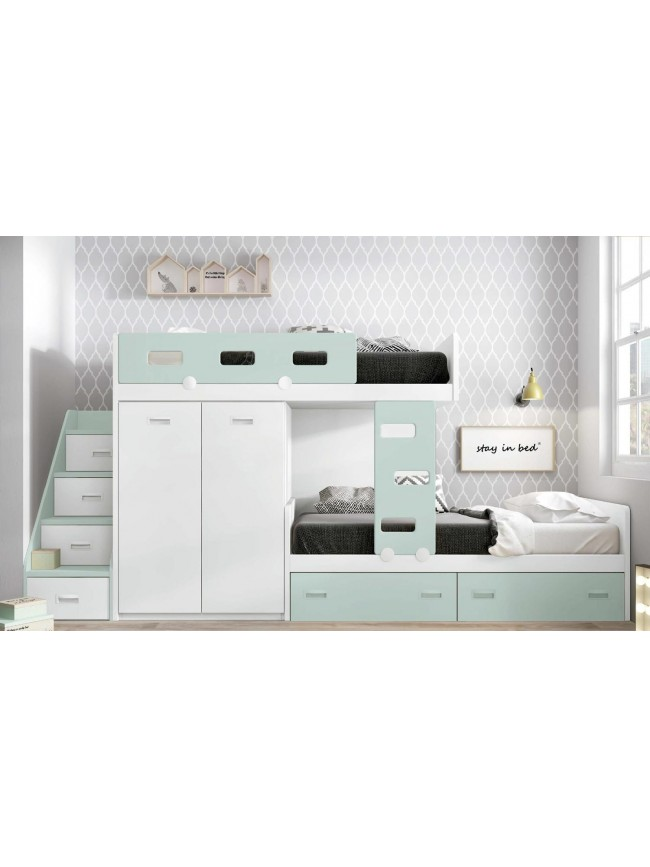 lits superpos s cottage canyon pour chambre enfant lagrama so nuit. Black Bedroom Furniture Sets. Home Design Ideas