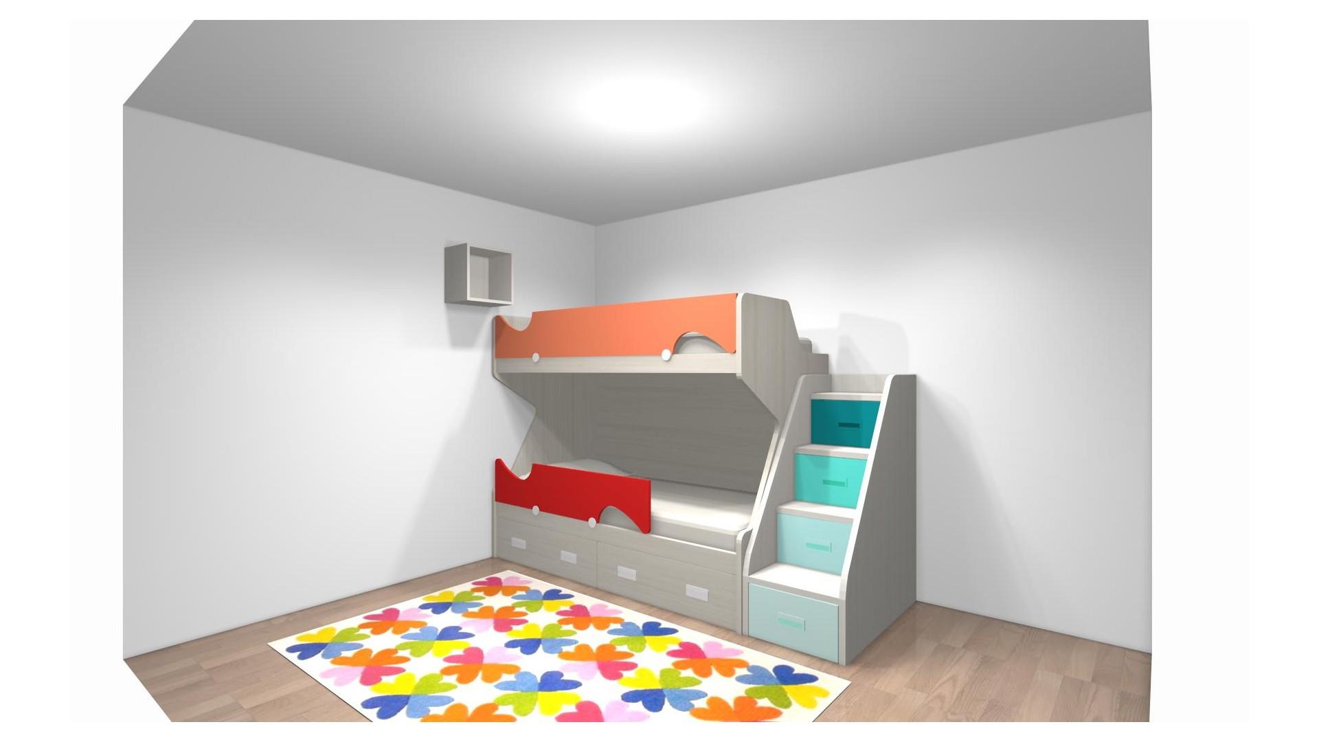 Lit Mezzanine Escalier Cube lit superposé enfant et escalier pour mme giuliani