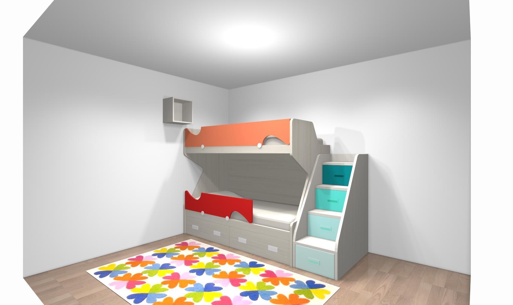 lit superpos enfant et escalier pour mme giuliani. Black Bedroom Furniture Sets. Home Design Ideas
