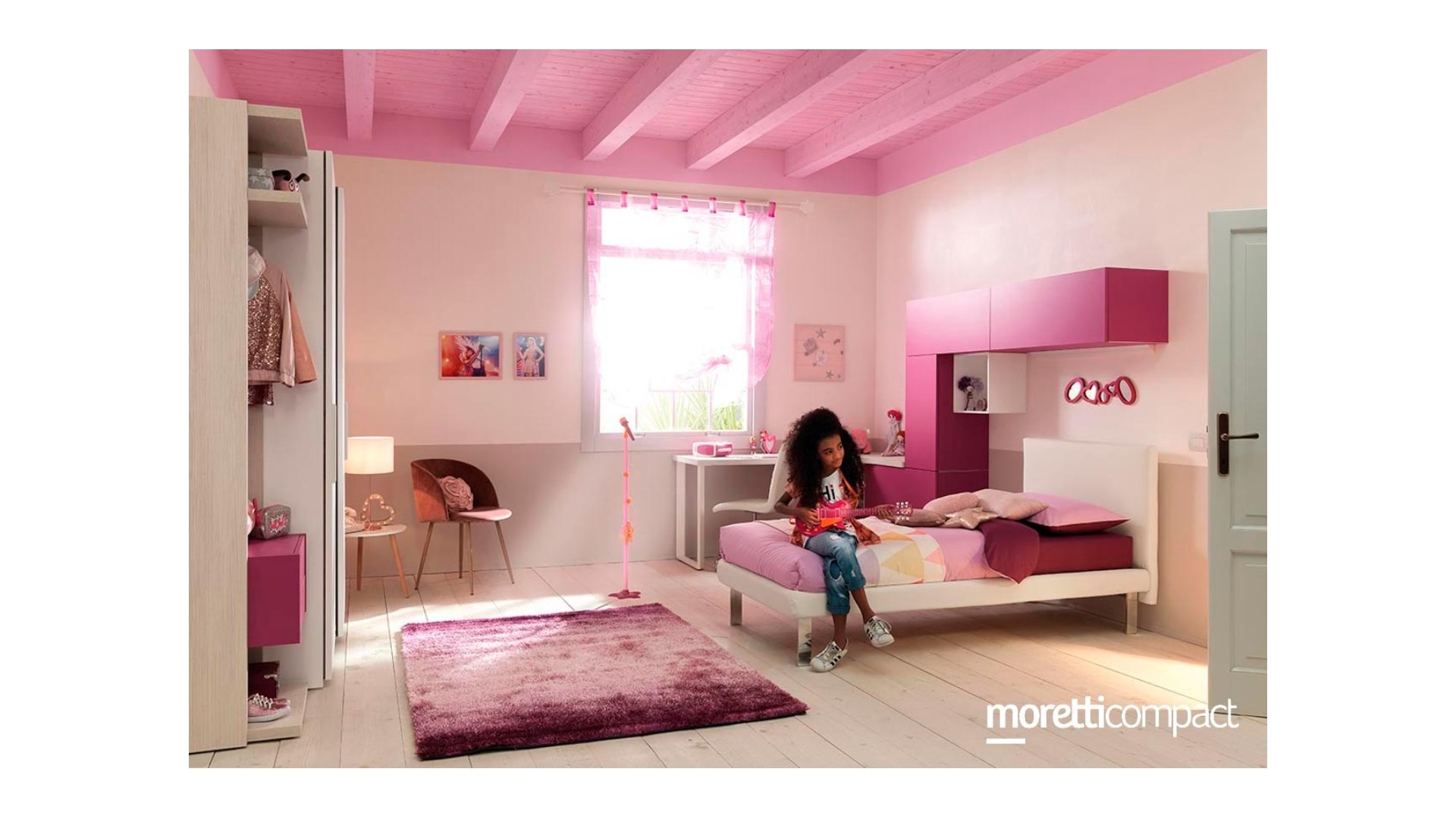 Chambre fille et ado girly chic - MORETTI COMPACT - SONUIT