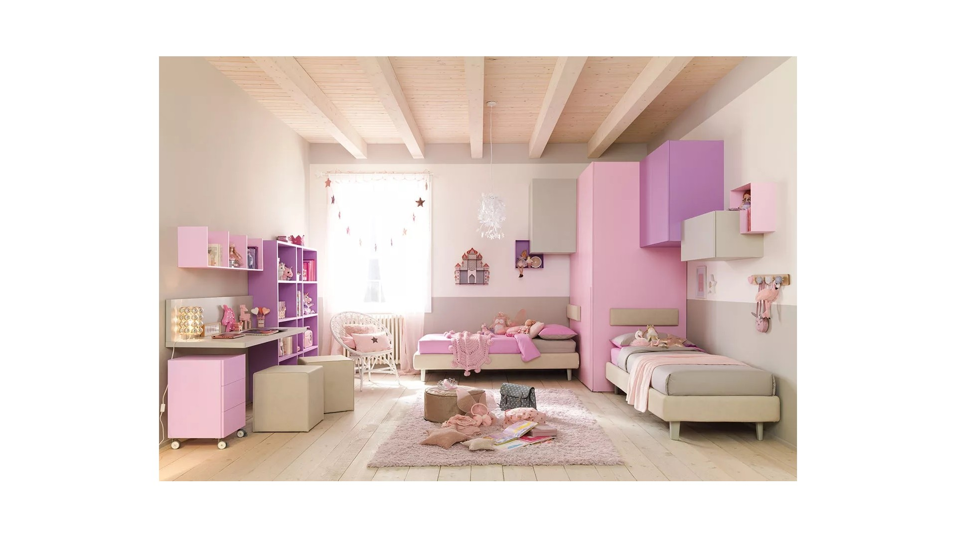 Chambre complete fille PERSONNALISABLE KC414 - MORETTI COMPACT