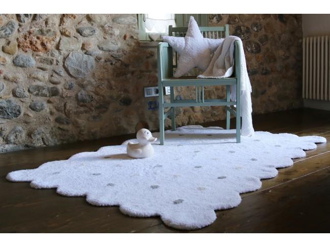 Tapis enfant PETIT BEURRE 120x160cm en coton lavable - LORENA CANALS