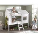 Lit cabane enfant blanc EQUATEUR 90x200 cm- SONUIT