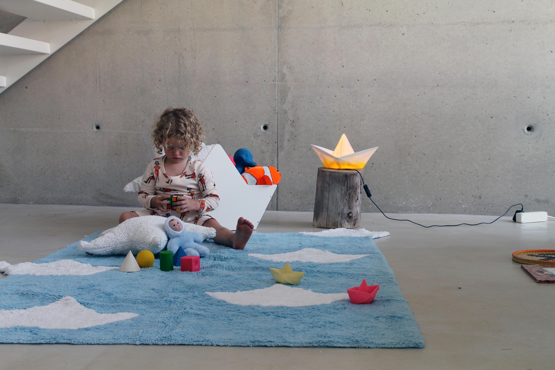 Tapis enfant BATEAU 120x160cm en coton lavable - LORENA CANALS