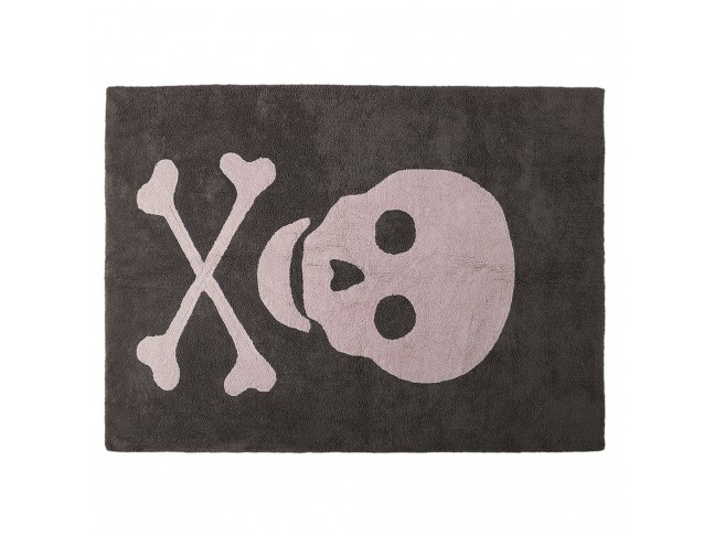 Tapis enfant CRANE PIRATE 140x200cm en coton lavable - LORENA CANALS