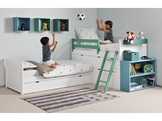 Tapis enfant DRAPEAU USA 120x160cm en coton lavable - LORENA CANALS