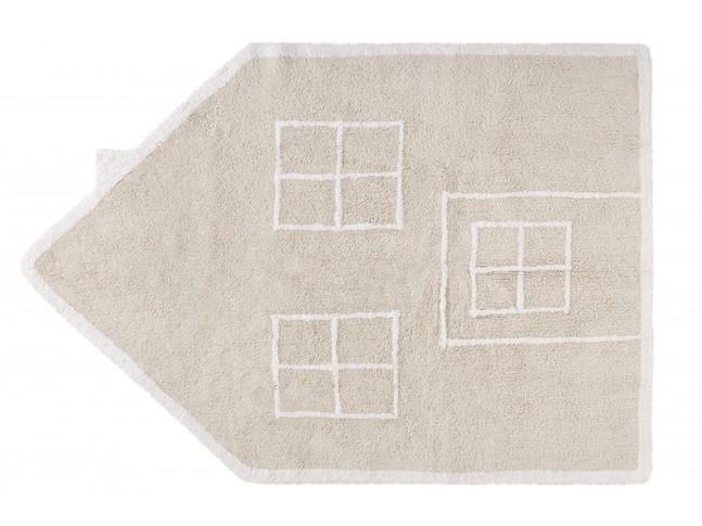Tapis enfant MAISON SILHOUETTE 120x160cm en coton lavable - LORENA CANALS
