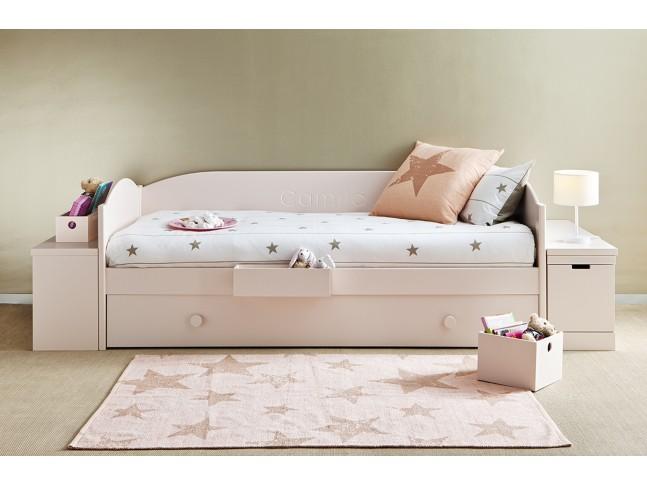Tapis enfant VINTAGE + COUSSIN assorti 120 x 160 cm en coton lavable - LORENA CANALS