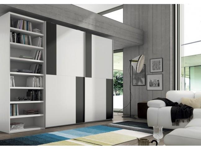 Armoire bibliothèque sur mesure PERSONNALISABLE - Eos 226FR-A - GLICERIO