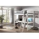 Lit mezzanine 1 place avec bureau CLARA couchage 90x200 cm - SONUIT