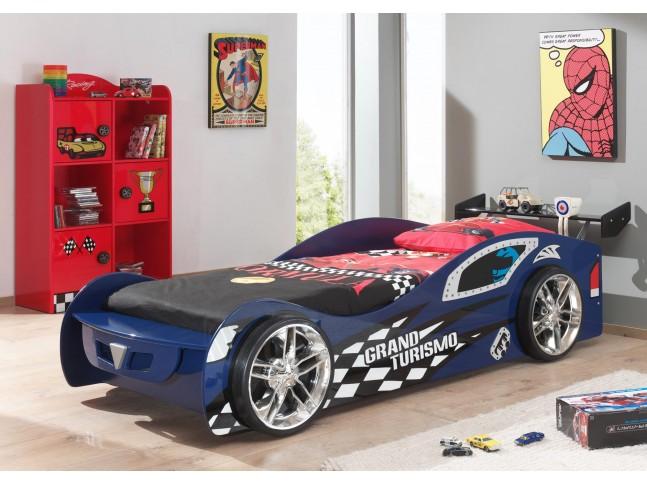 Lit  garcon voiture GT bleu couchage 90 x 200 cm - SONUIT