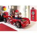 Lit voiture garcon Racing rouge couchage 90 x 200 cm - SONUIT
