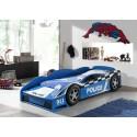 Lit voiture bleu de Police junior couchage 70 x 140 cm - SONUIT