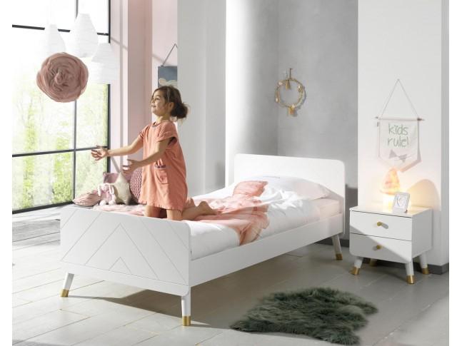 Lit pour enfant LILLY blanc 90x200 cm- SONUIT