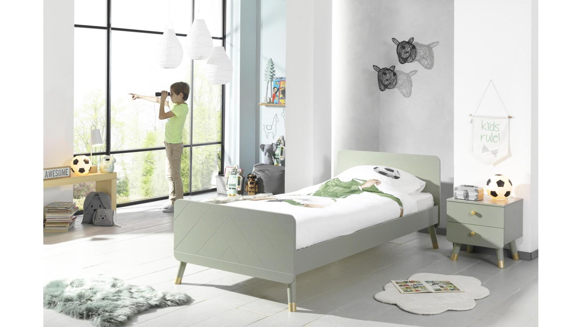 Lit pour enfant LILLY olive 90x200 cm- SONUIT