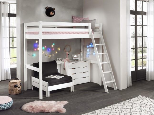 Lit mezzanine pour enfant CLARA couchage 90x200 cm - SONUIT