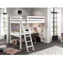 Lit mezzanine 2 places avec bureau couchage 140x200 cm CLARA - SONUIT