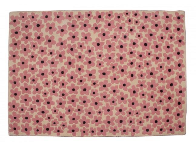 Tapis enfant FLOWER en laine 140x200cm - LORENA CANALS