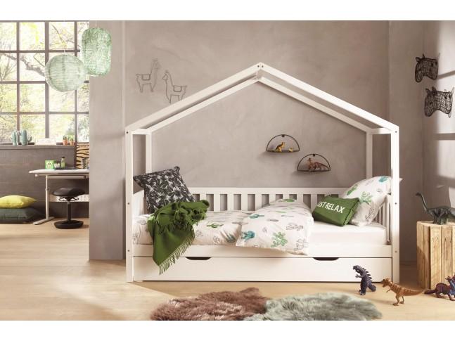 Lit enfant cabane NICE blanc 90x200 cm- SONUIT
