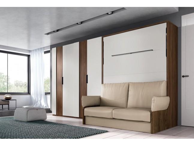 Lit escamotable canapé couchage double PERSONNALISABLE 044 - GLICERIO