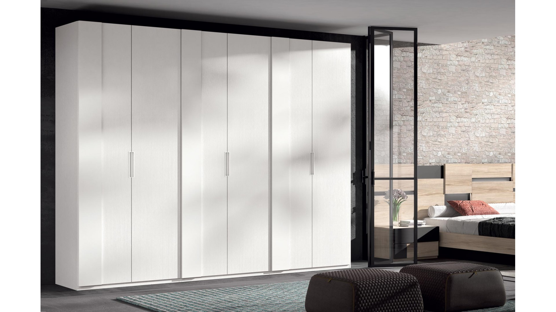 Armoire dressing portes battantes PERSONNALISABLE COSMO49 - GLICERIO