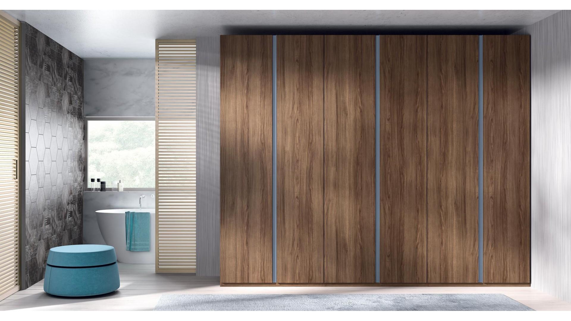 Armoire dressing 6 portes battantes PERSONNALISABLE COSMO50 - GLICERIO