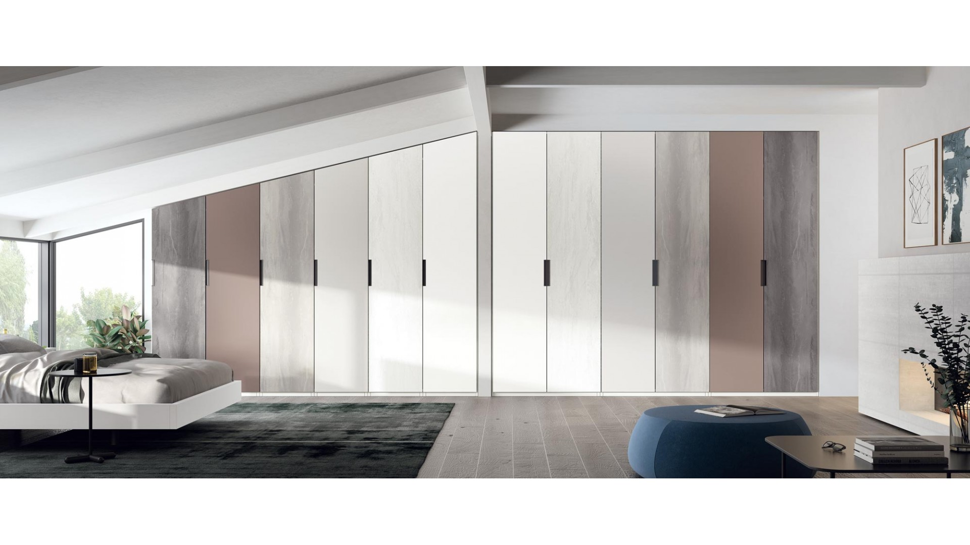 Armoire dressing sous pentes PERSONNALISABLE COSMO62 - GLICERIO