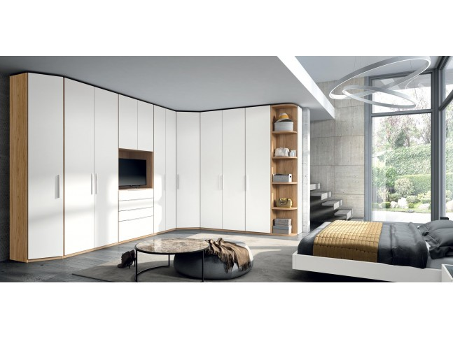 Armoire dressing avec emplacement TV PERSONNALISABLE COSMO64 - GLICERIO
