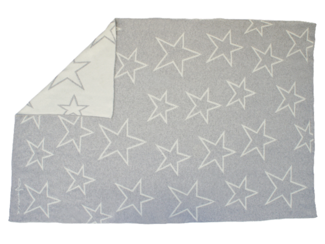 Couverture plaid STARS CONSTELLATION 120 x 180 cm en laine lavable - LORENA CANALS