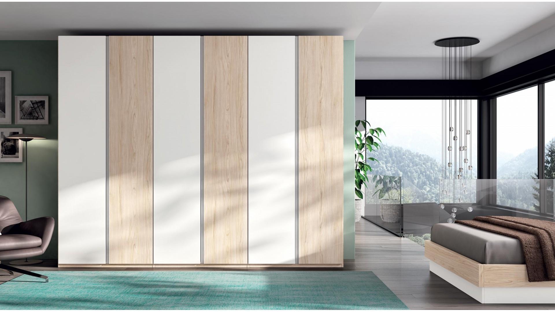 Armoire dressing 6 portes battantes PERSONNALISABLE COSMO60 - GLICERIO