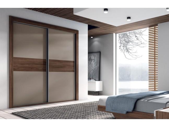 Armoire portes coulissantes encastrée avec cadre PERSONNALISABLE COSMO82- GLICERIO