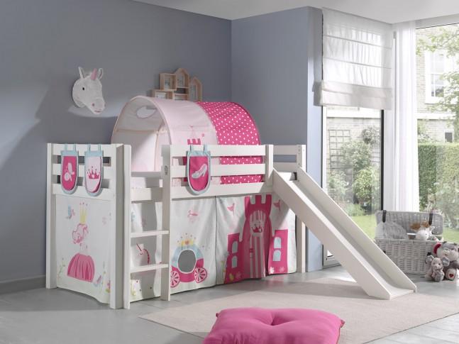 Tissus cabane décor princesse carosse pour lit mi-haut - SONUIT