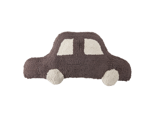 Lot de 2 coussins lavables VOITURE en coton naturel 20x50cm - LORENA CANALS