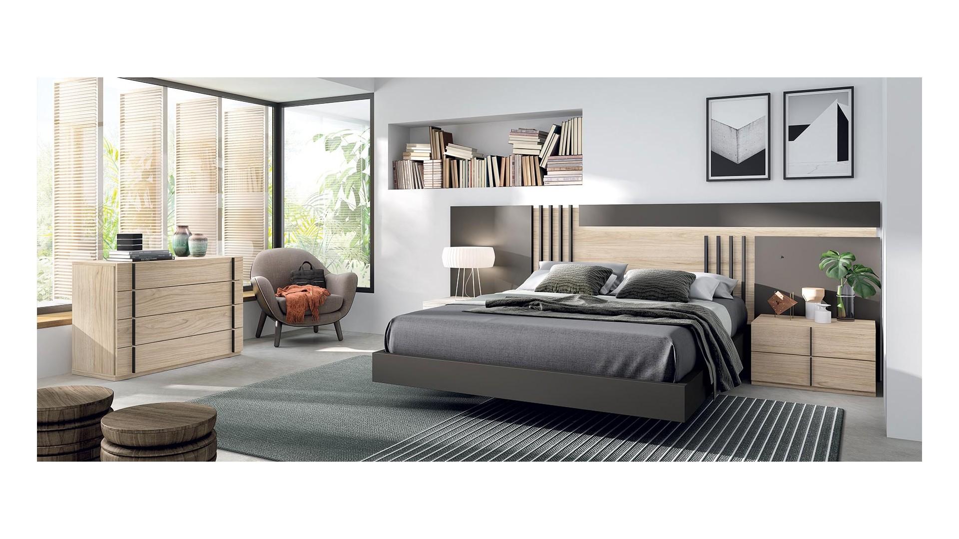 Chambre à coucher adulte PERSONNALISABLE COSMO 09 - GLICERIO
