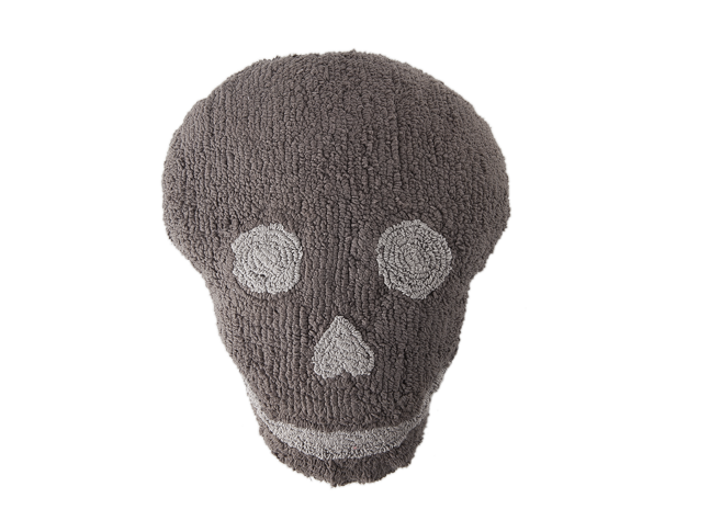 Lot de 2 coussins lavables SKULL en coton naturel 50x45cm - LORENA CANALS
