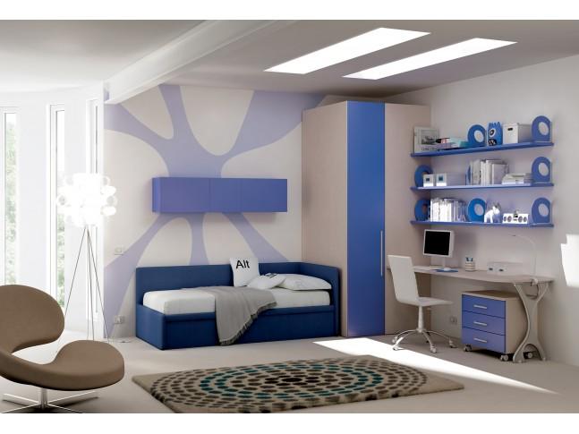 Chambre enfant PERSONNALISABLE KC13 lit canapé et lit gigogne - MORETTI COMPACT